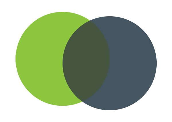 Colour Venn Diagram Exercise resulting in a third color option.